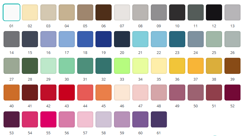kleurnummers